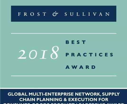 E2open recognized with the Frost & Sullivan 2018 Global Product Leadership Award