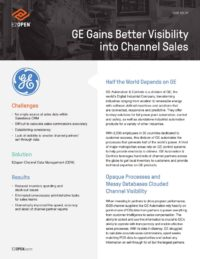 Case Study - GE Gains Better Visibility into Channel Sales