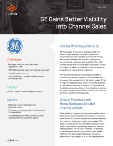 GE Gains Better Visibility into Channel Sales