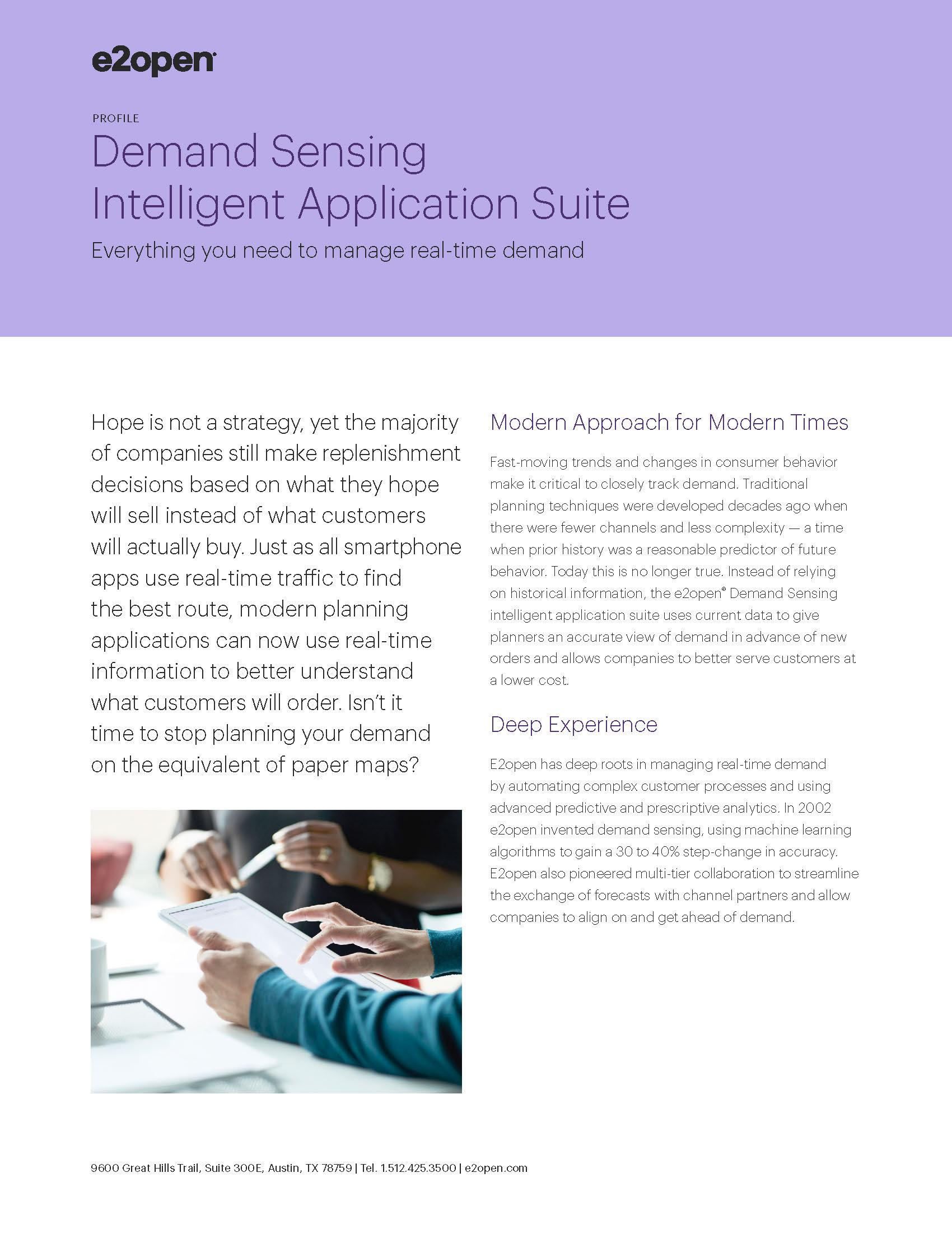 Demand Sensing Intelligent Application Suite Profile