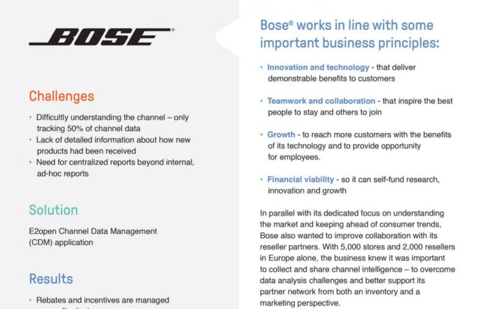 Bose Improves Collaboration and Strengthens Partner Networks