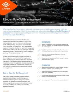 E2open Buy-Sell Management