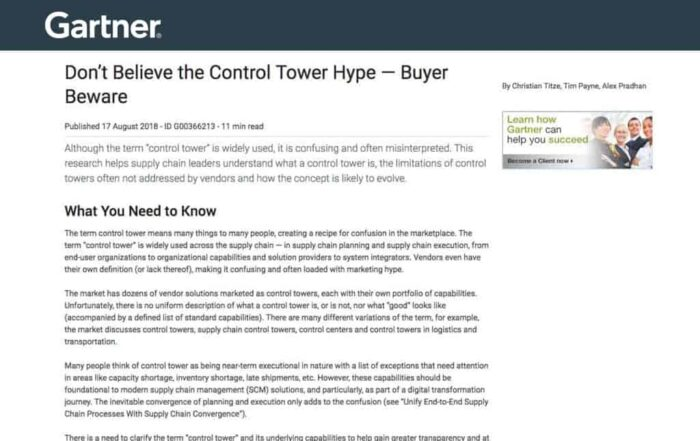 Don't Believe the Control Tower Hype – Buyer Beware