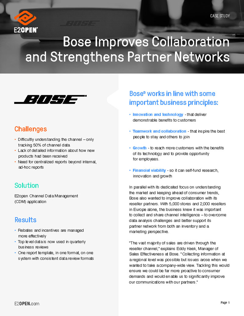 Bose's Reseller Channel Improves