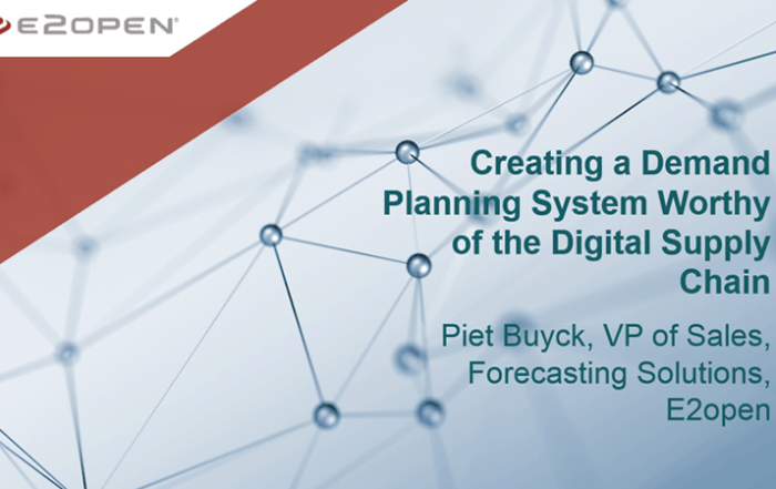 Creating a Demand Planning System Worthy of the Digital Supply Chain