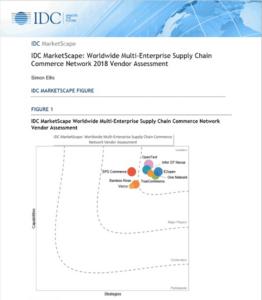 IDC MarketScape: Worldwide Multi-Enterprise Supply Chain Commerce Network 2018 Vendor Assessment