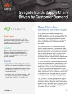 Seagate Builds Supply Chain Driven by Customer Demand