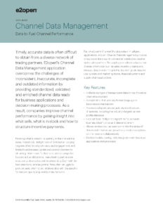 E2open Channel Data Management