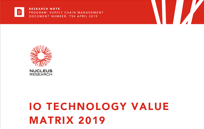 Nucleus Research: IO Technology Value Matrix 2019