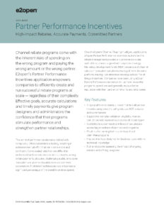 Partner Performance Incentives Data Sheet