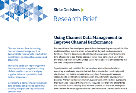 Using Channel Data Management to Improve Channel Performance