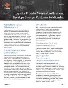 Logistics Provider Closes More Business, Develops Stronger Customer Relationship