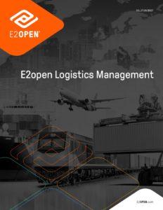 E2open Logistics Management Solution Brief