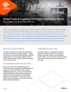 E2open Global Trade & Logistics Intelligent Application Suite Profile