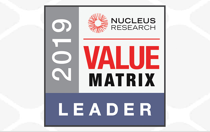 2019 Nucleus Control Tower Value Matrix