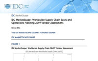 IDC MarketScape: Worldwide Supply Chain Sales and Operations Planning 2019 Vendor Assessment
