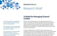 SiriusDecisions Research Brief: A Model for Managing Channel Conflict