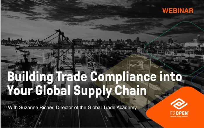 GTA Webinar Building Trade Compliance into Your Global Supply Chain