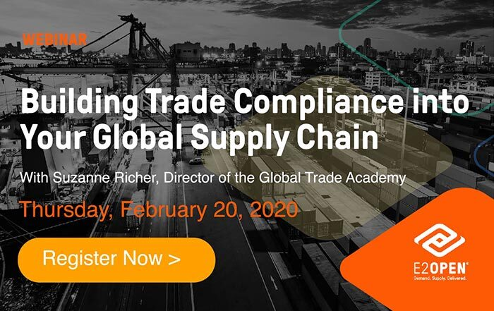 Building Trade Compliance into Your Global Supply Chain