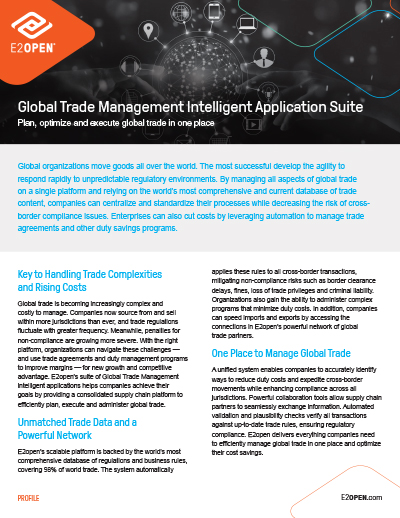 Global Trade Management Intelligent Application