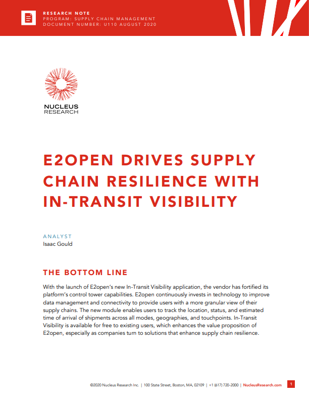 Nucleus Thumbnail - E2open Drives Supply Chain Resilience with In-Transit Visibility