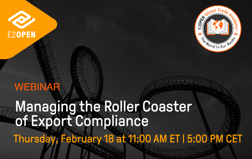 Managing the Roller Coaster of Export Compliance