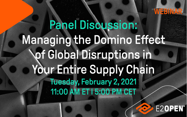 Panel Discussion Managing the Domino Effect of Global Disruptions in Your Entire Supply Chain