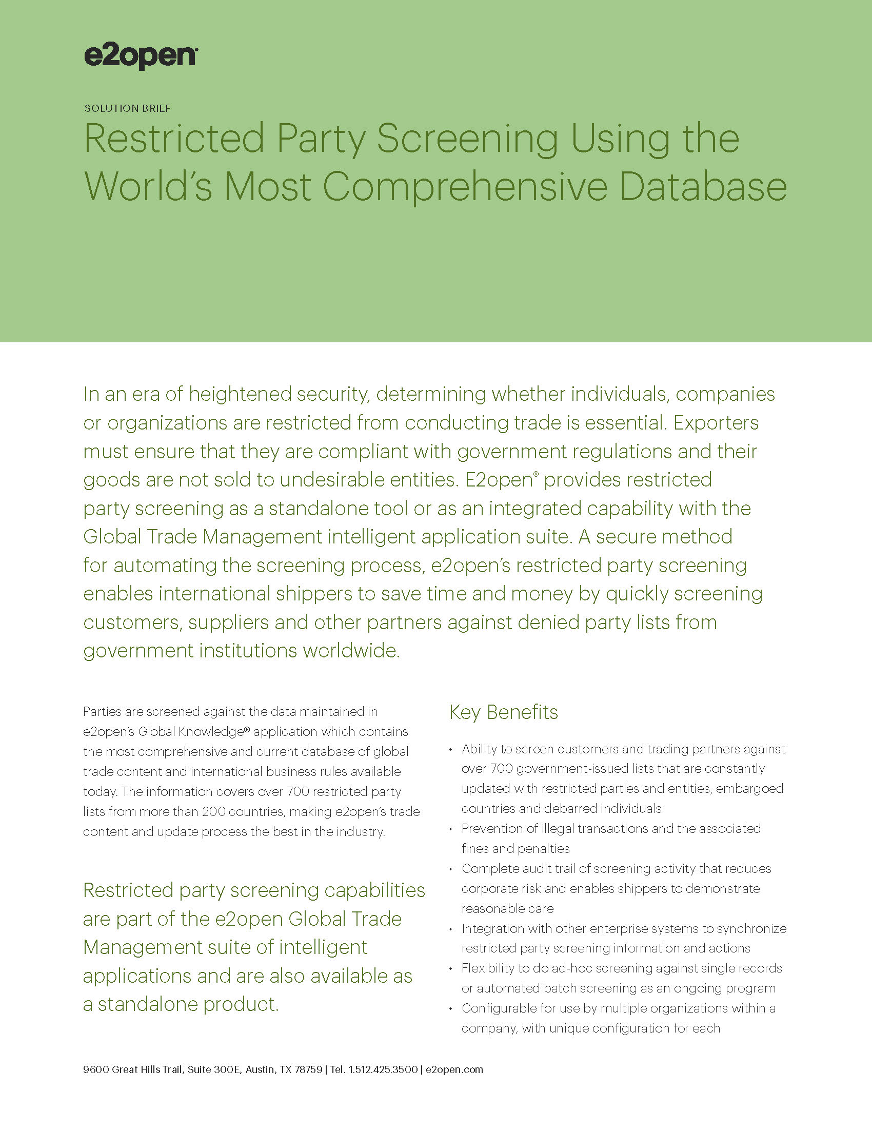 Restricted Party Screening Using the World's Most Comprehensive Database