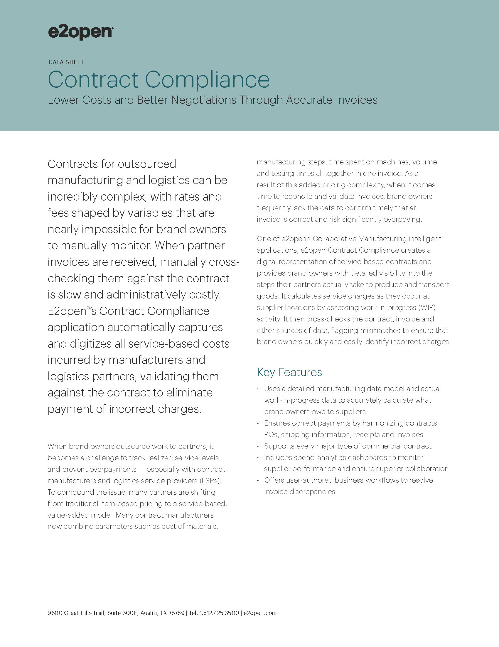 E2open Contract Compliance