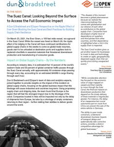 The Suez Canal: Looking Beyond the Surface to Access the Full Economic Impact