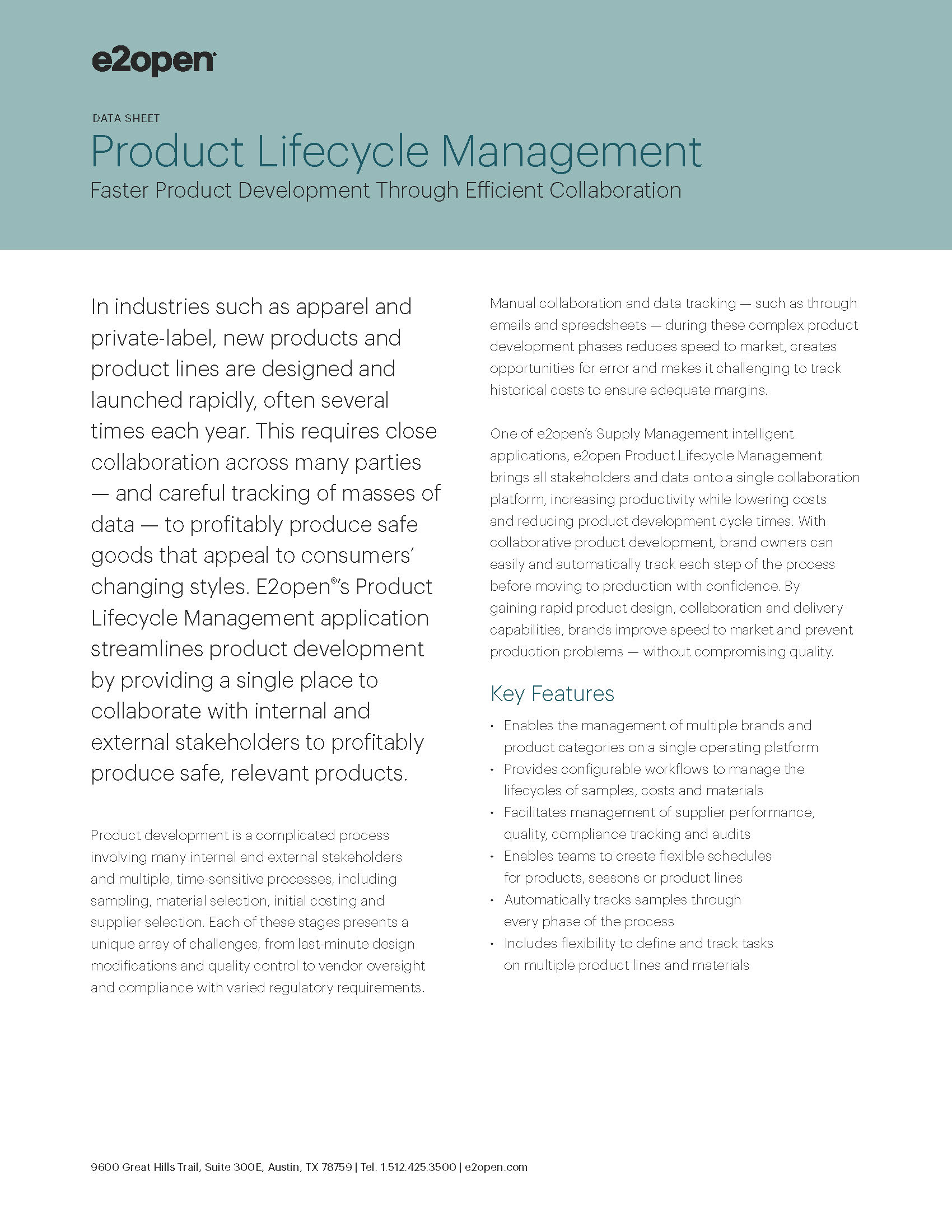 E2open Product Lifecycle Management