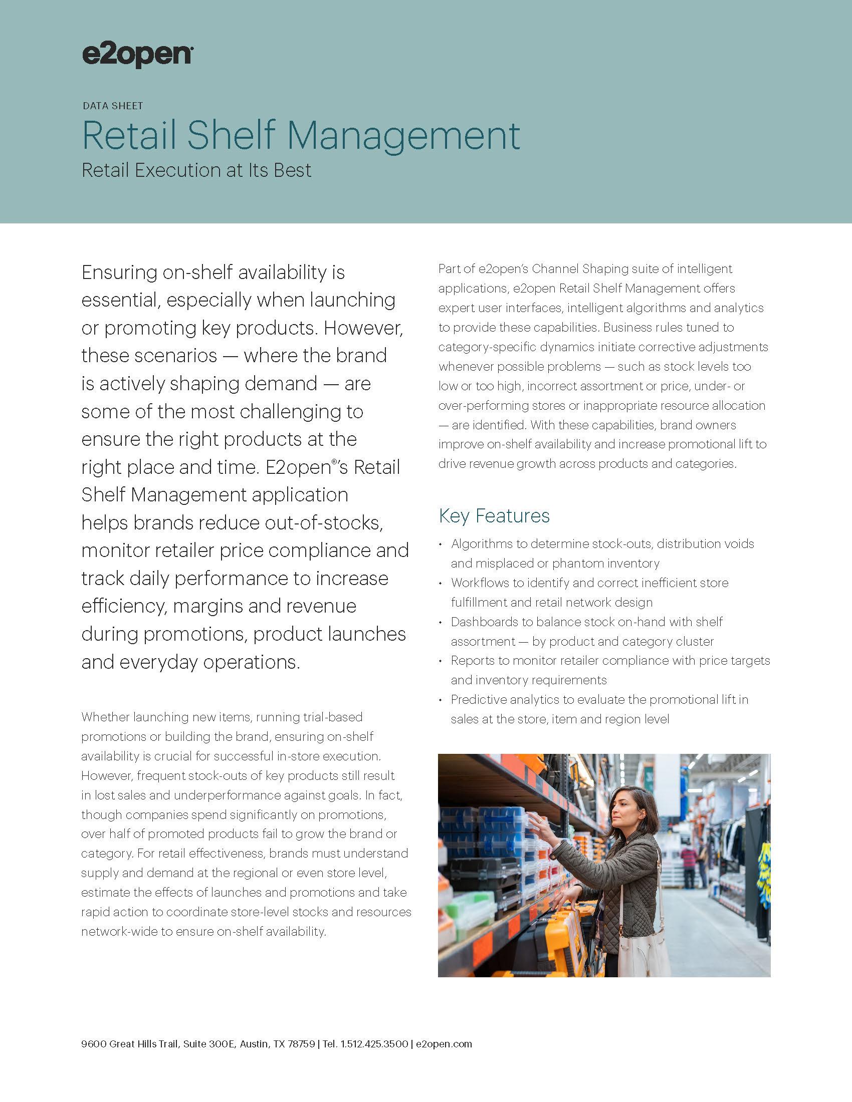 E2open Retail Shelf Management