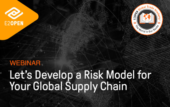 Let's Develop a Risk Model for Your Global Supply Chain