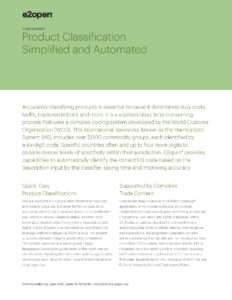 Product Classification Simplified and Automated