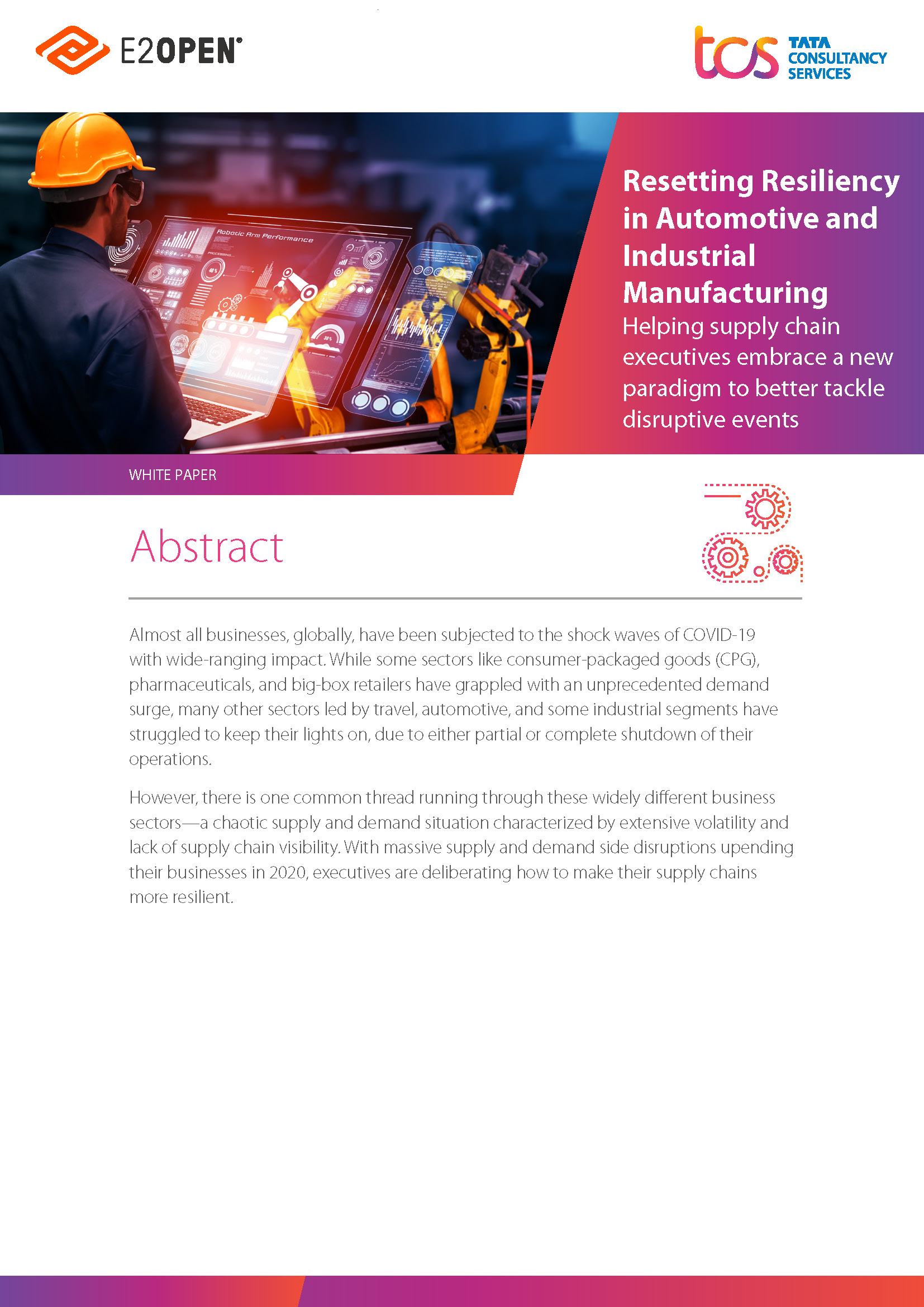 Resetting Resiliance in Automotive and Industrial Manufactring