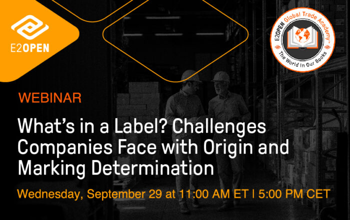 What's in a Label? Challenges Companies Face with Origin and Marking Determination